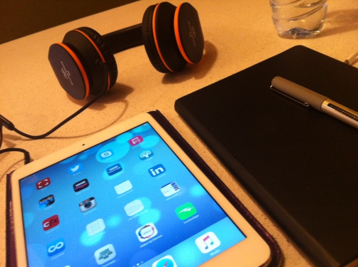 My ipad and notebook